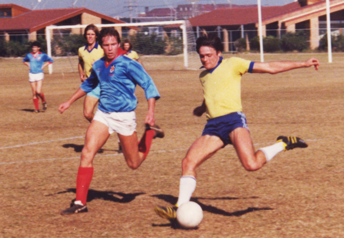 Gary Playing Soccer at University